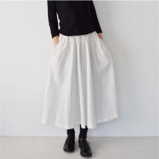 PoisEシンプルフレアースカート