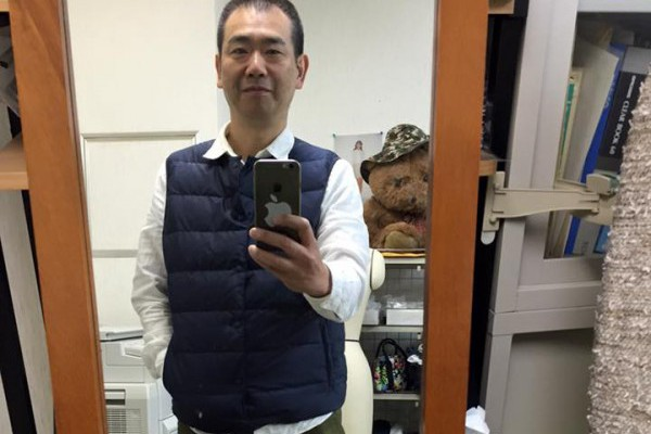 KEISUKE OKUNOYA インナーダウンベストを着たボク