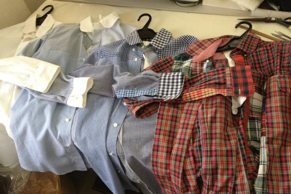 2012年3月3日、4年前に縫っていたPHABLICxKAZUI古着アソート生地リメイクシャツ