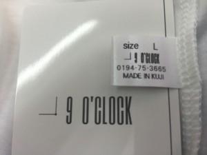 メイドイン久慈-9時=ナインオクロックw