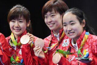 卓球日本女子団体銅メダルおめでとう
